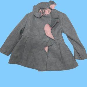 Rothschild ruffled little girls coat